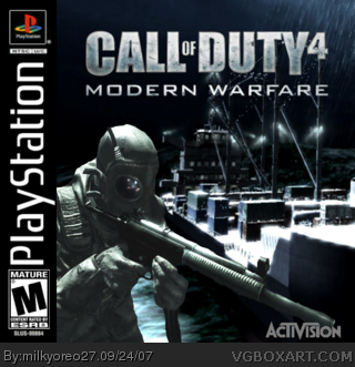 Call Of Duty 4 Modern Warfare Playstation Box Art Cover