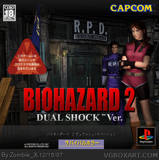 Biohazard 2 Dual Shock Playstation Box Art Cover By Zombie X
