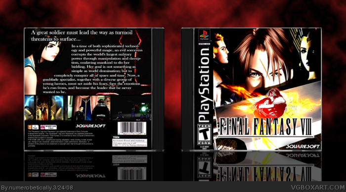 PlayStation » Final Fantasy VIII Box Cover