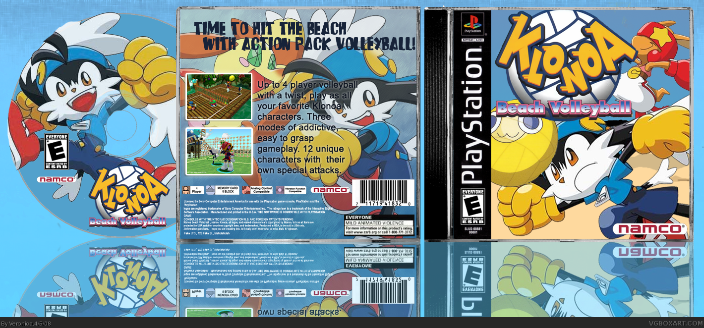 PlayStation » Klonoa Beach Volleyball Box Cover