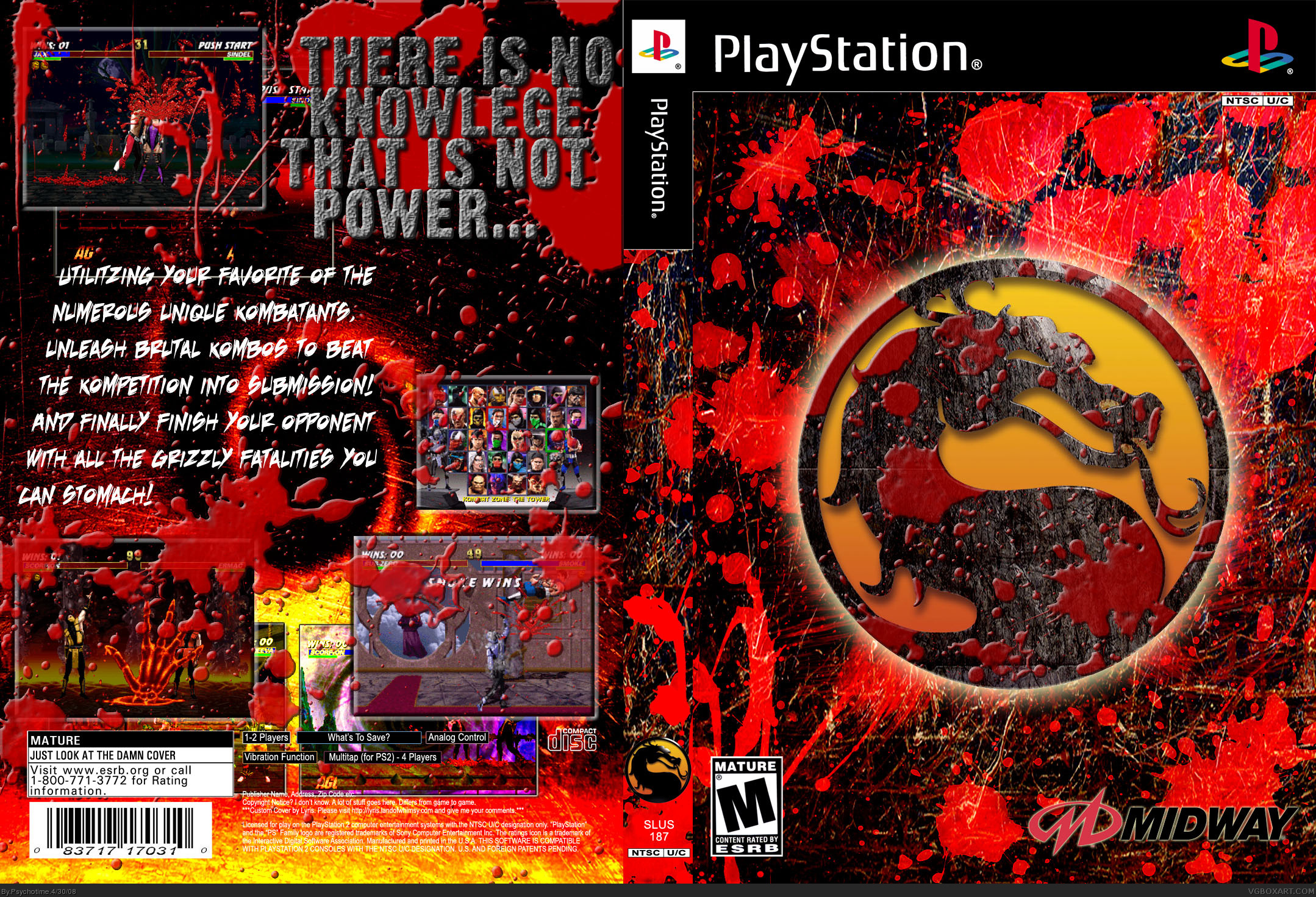 PlayStation » Mortal Kombat Trilogy Box Cover