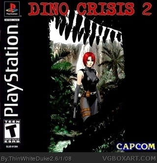 dino crisis 2 box art cover