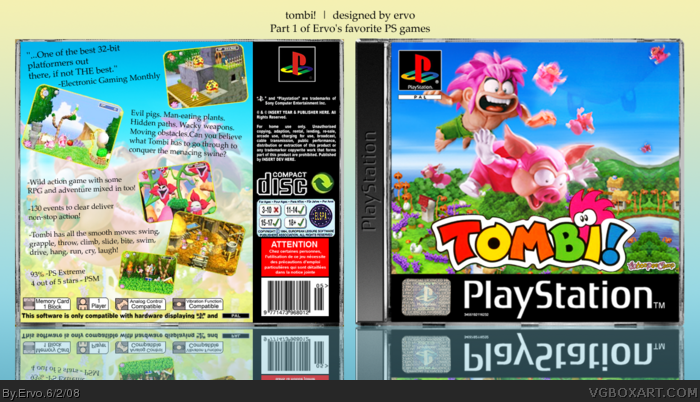 PlayStation » Tombi! Box Cover
