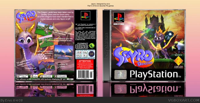 Spyro The Dragon Playstation Box Art Cover By Ervo