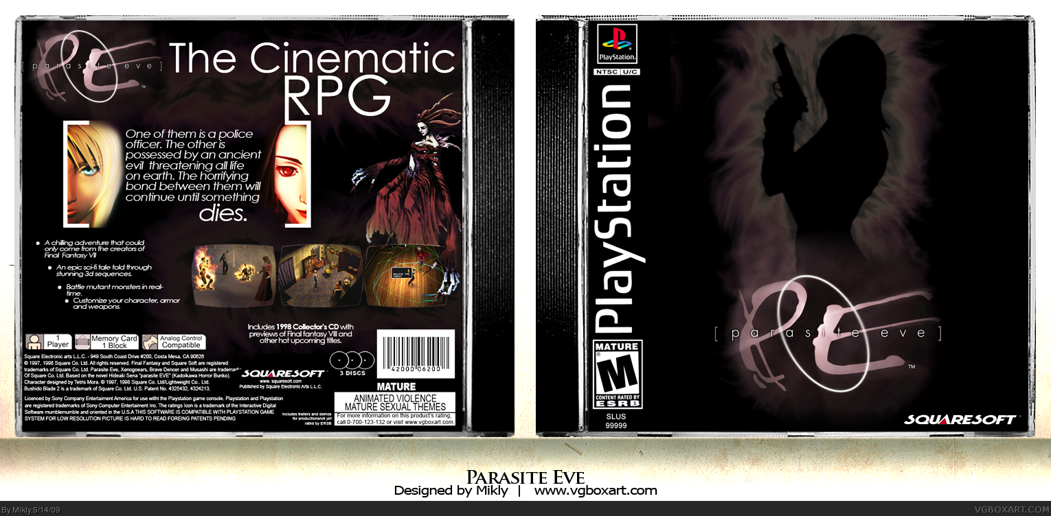Parasite Eve box cover