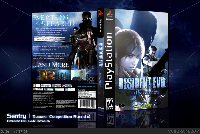 Resident Evil Code: Veronica box art cover