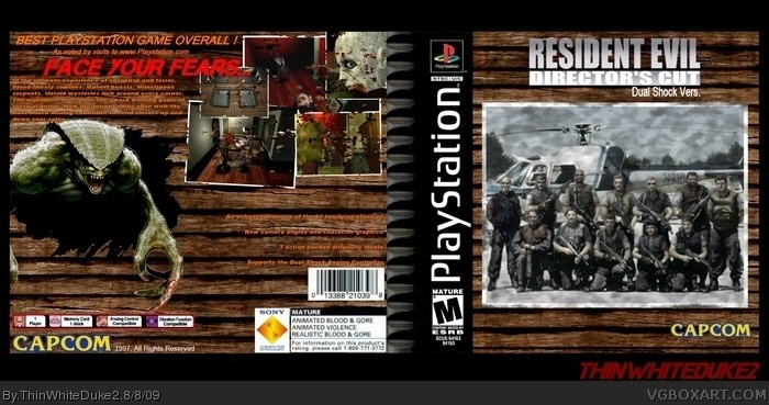 PlayStation » Resident Evil Director's Cut Box Cover