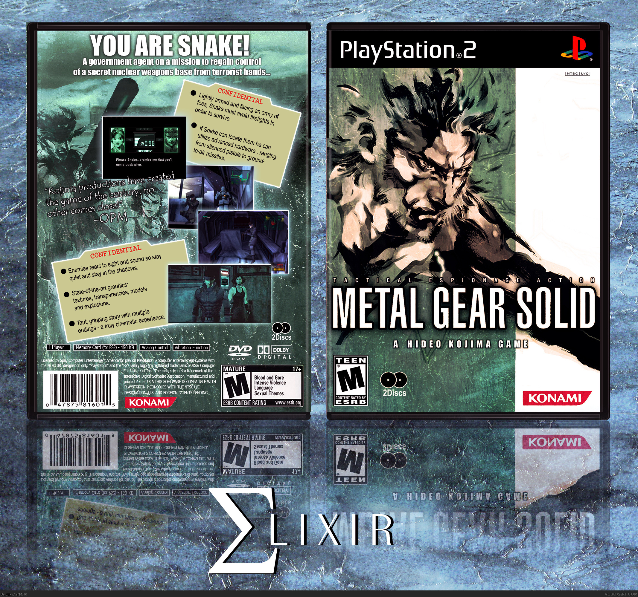 Metal Gear Solid PlayStation Box Art Cover By Elixir