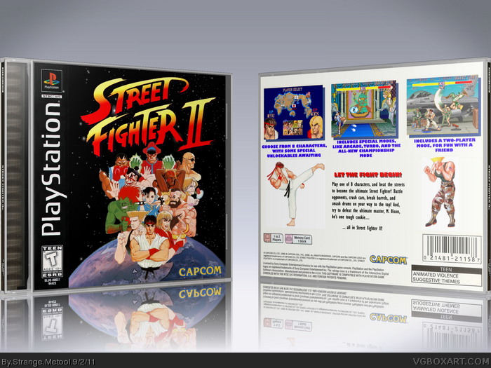 Street Fighter II box art cover