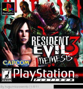 Resident Evil 3 Nemesis Playstation Box Art Cover By Huguiniopasento