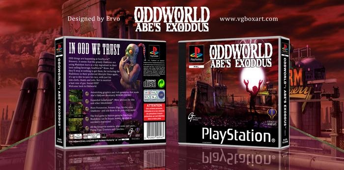 Oddworld Abe S Exoddus Playstation Box Art Cover By Ervo