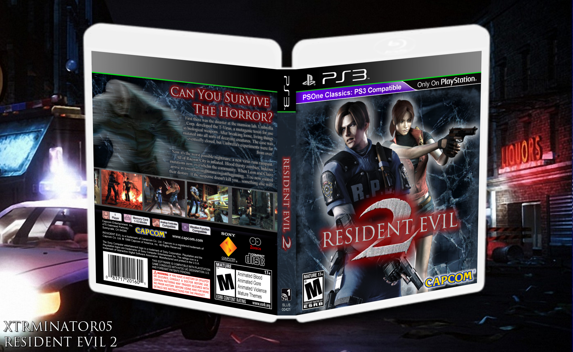 Viewing full size Resident Evil 2 box cover