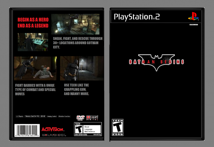 Batman Begins: The Game box art cover