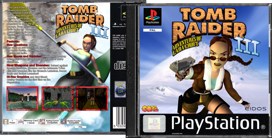 Tomb Raider III box cover