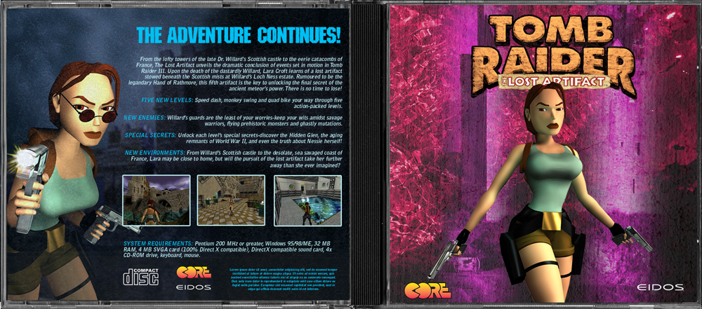 Tomb Raider III: The Lost Artifact box cover