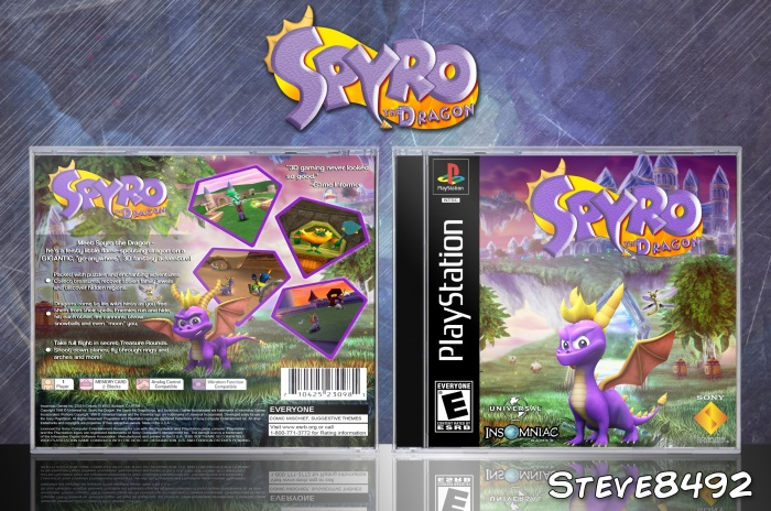 Spyro The Dragon box art cover