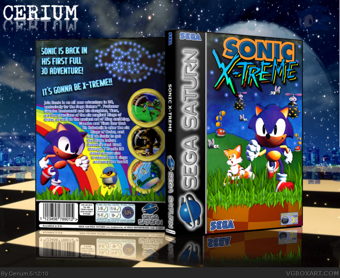 Sonic X-Treme box art cover