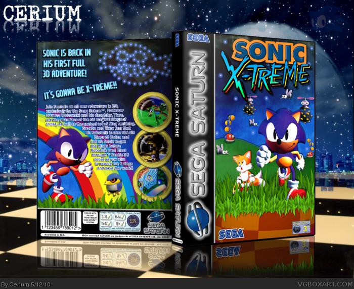 Sonic X Treme Sega Saturn Box Art Cover By Cerium