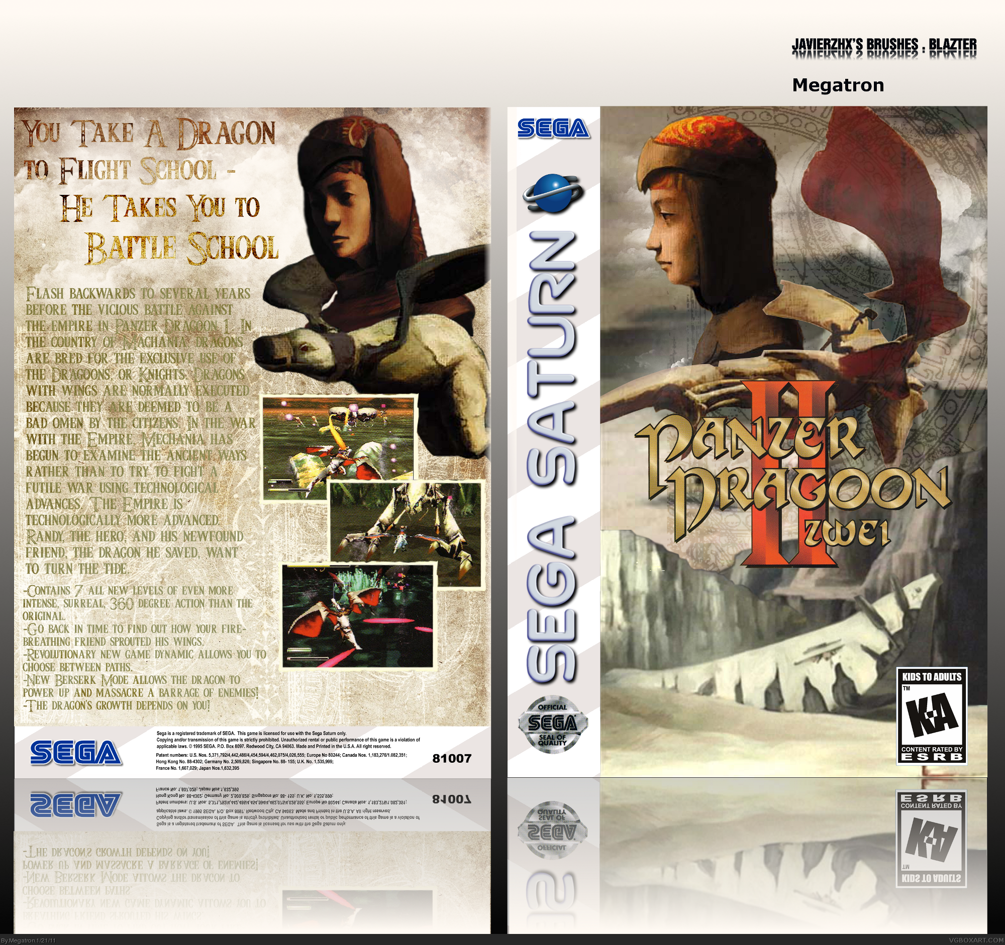 Panzer Dragoon Zwei box cover