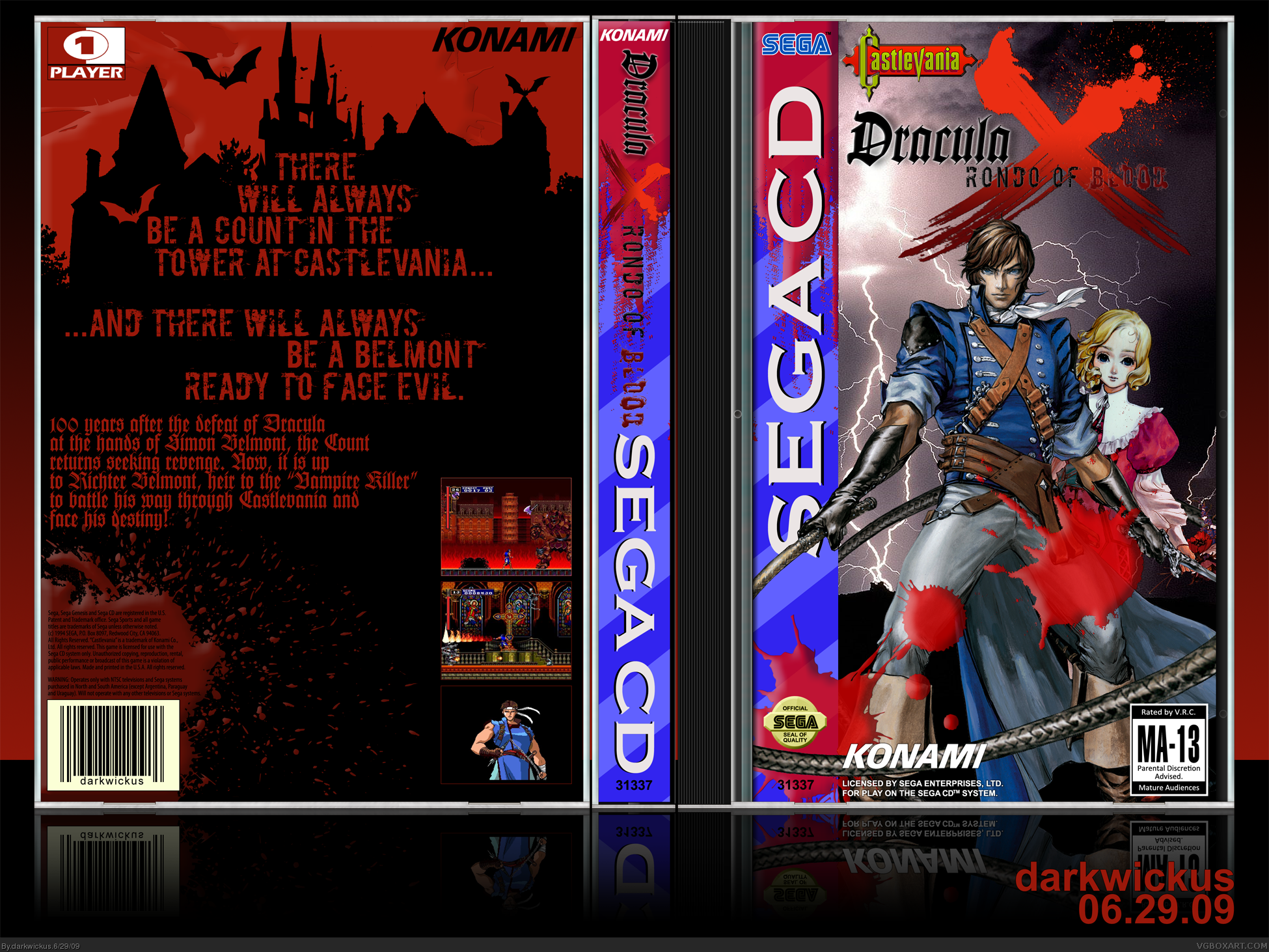 Castlevania Dracula X: Rondo Of Blood box cover