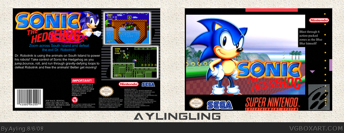 Sonic The Hedgehog Snes Box Art Cover By Ayling