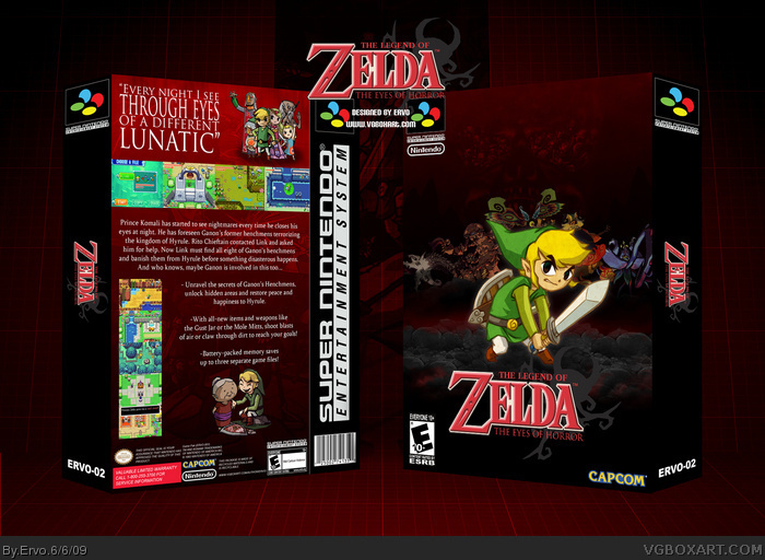 The Legend of Zelda: The Eyes of Horror box art cover