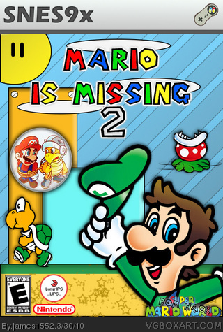 Mario Is Missing 2 Snes Box Art Cover By James1552