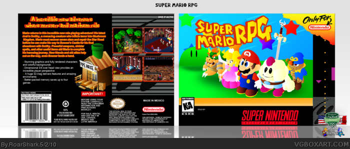 Super Mario RPG box art cover