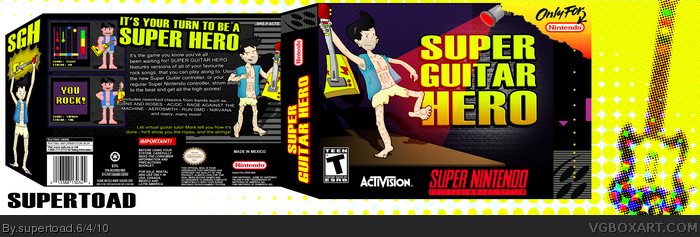Super Guitar Hero box art cover