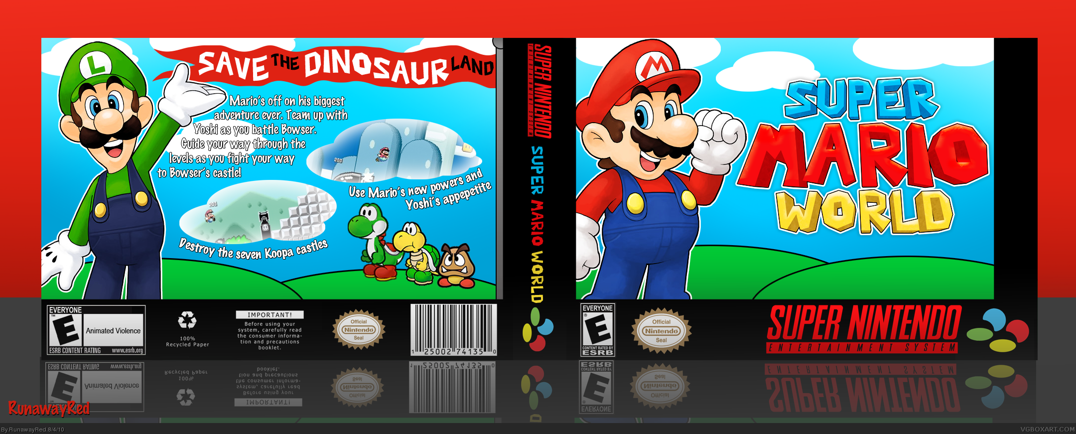 Super Mario World box cover