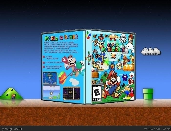 Super Mario Bros. X box cover