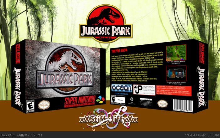 Jurassic Park box art cover