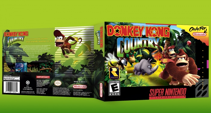 Donkey Kong Country box art cover