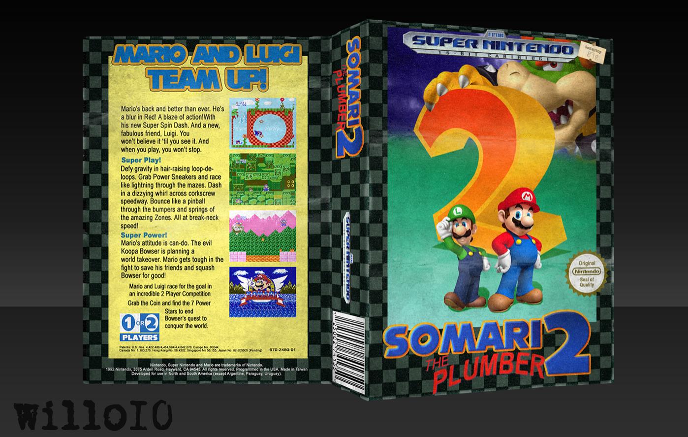 Somari the Plumber 2 SNES Box Art Cover by willo10