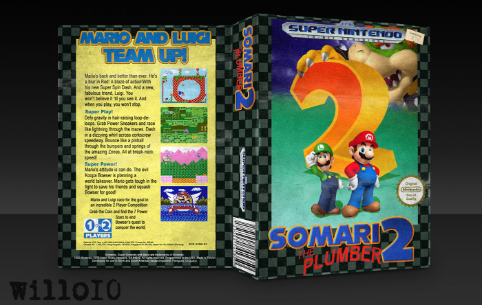 Somari the Plumber 2 box art cover