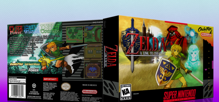 The Legend of Zelda A Link to the Past box cover