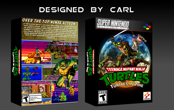 Teenage Mutant Ninja Turtles: Turtles in Time box art cover