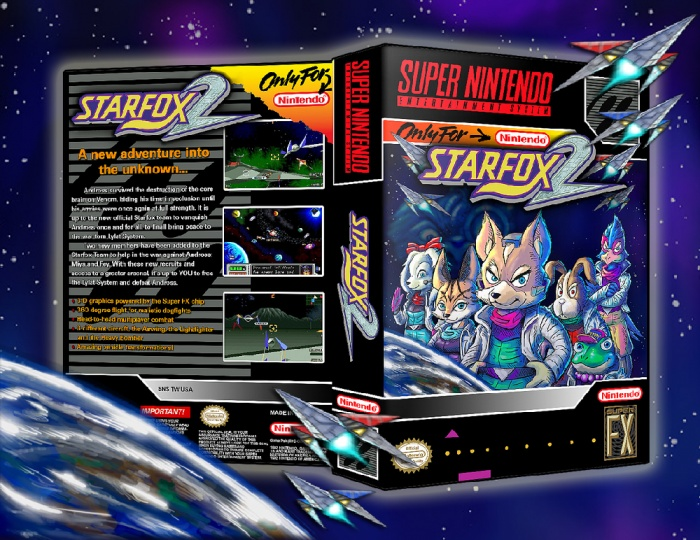 Star Fox 2 box art cover