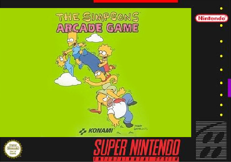 The Simpsons Arcade Game box cover