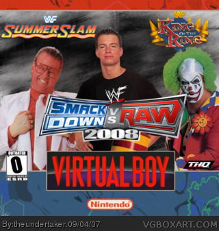 WWF SmackDown! vs RAW 2008 box cover