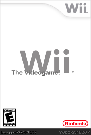 Wii the videogame. box art cover