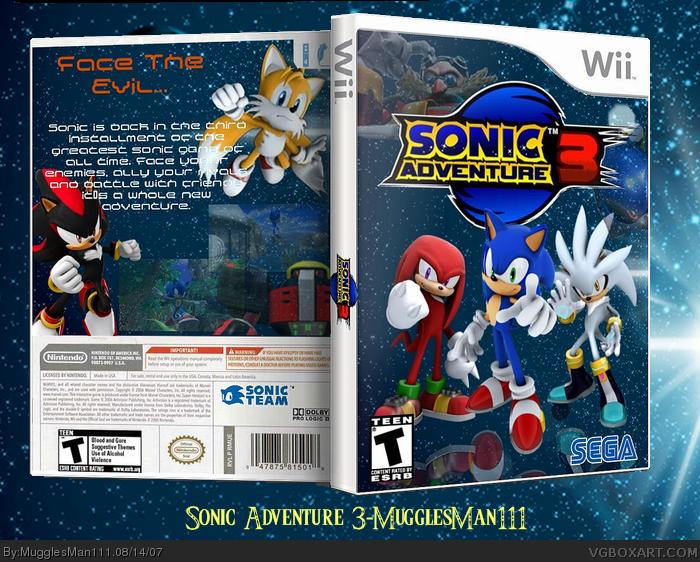 Sonic Adventure 3 box art cover