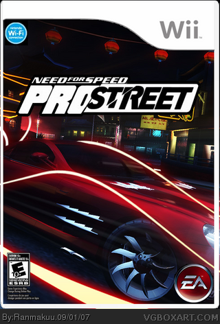 need for speed pro street wii box art cover by ranmakuu. Black Bedroom Furniture Sets. Home Design Ideas