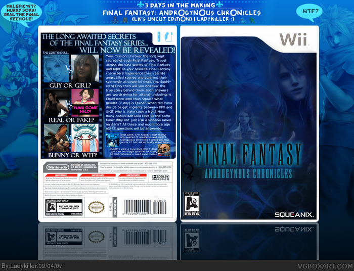 Final Fantasy: Androgynous Chronicles box art cover