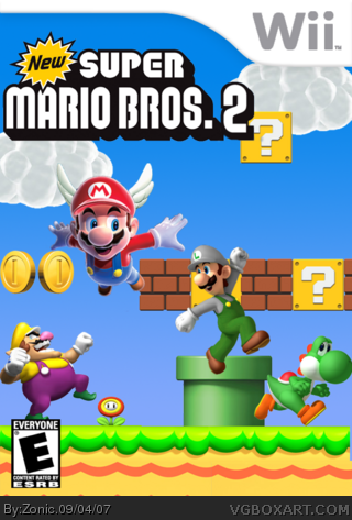 New Super Mario Bros 2 Wii Box Art Cover By Zonic