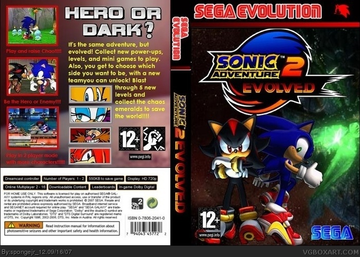 Sonic Adventure 2 Evolved (Sega Evolution) box art cover