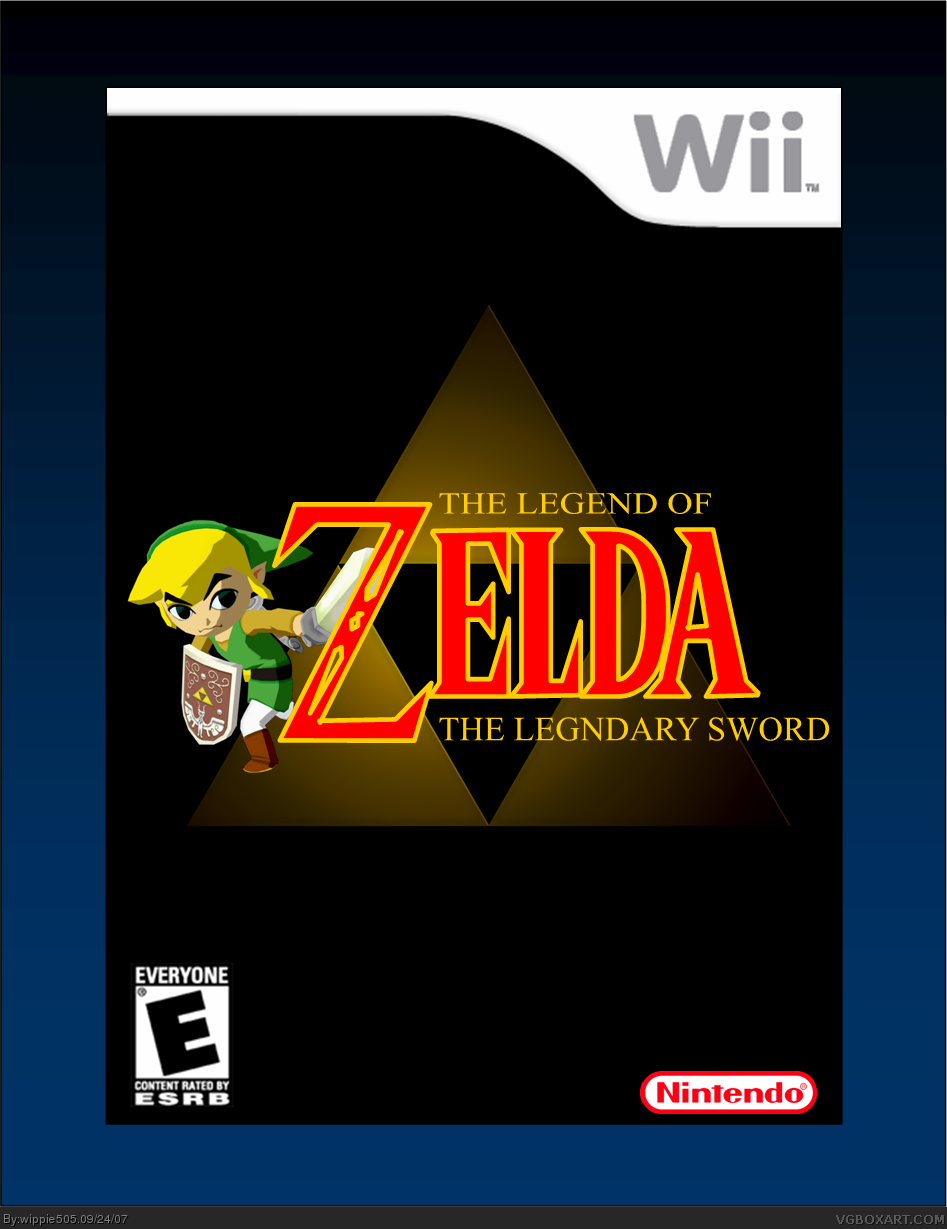 The Legnd of Zelda: The Legendary Sword box cover