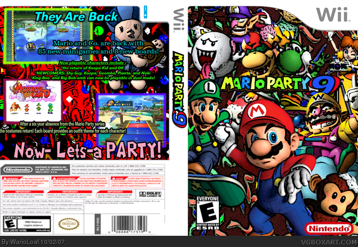 Mario Party 9 Wii Box Art Cover By Warioloaf