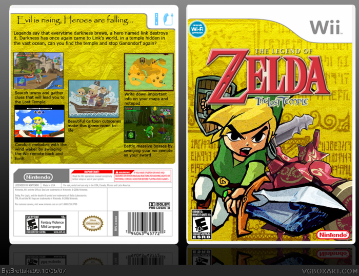 The Legend of Zelda: The Lost Temple box art cover