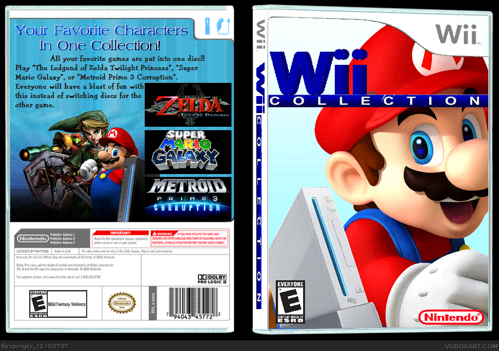 Wii Collection box cover